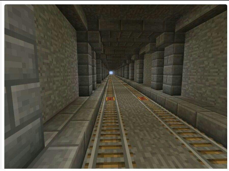 Minecraft Underground Tunnel Minecraft Pinterest Minecraft