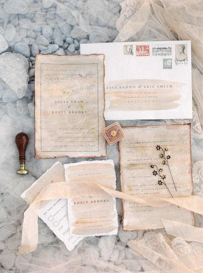 how to mail scroll wedding invitations%0A Vintage wedding invitation paper suite  http   www stylemepretty com