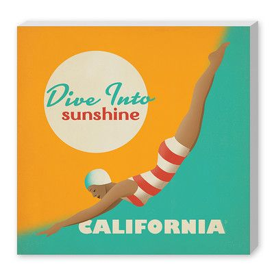 Americanflat Divesunshine Ca By Anderson Design Group Vintage Advertisement On Wrapped Canvas Size Florida Poster California Print Vintage Travel Posters