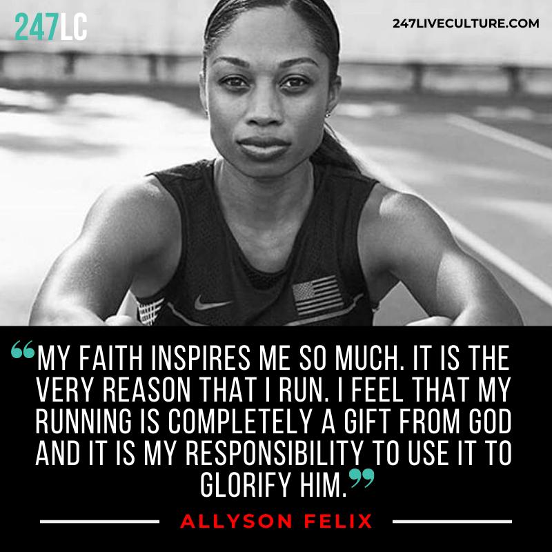Inspirational Quotes Allyson Felix motivationalquotes