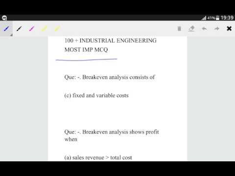 10 best TECHNICAL EXAM MCQ images on Pinterest Technology, 1 and - break even analysis