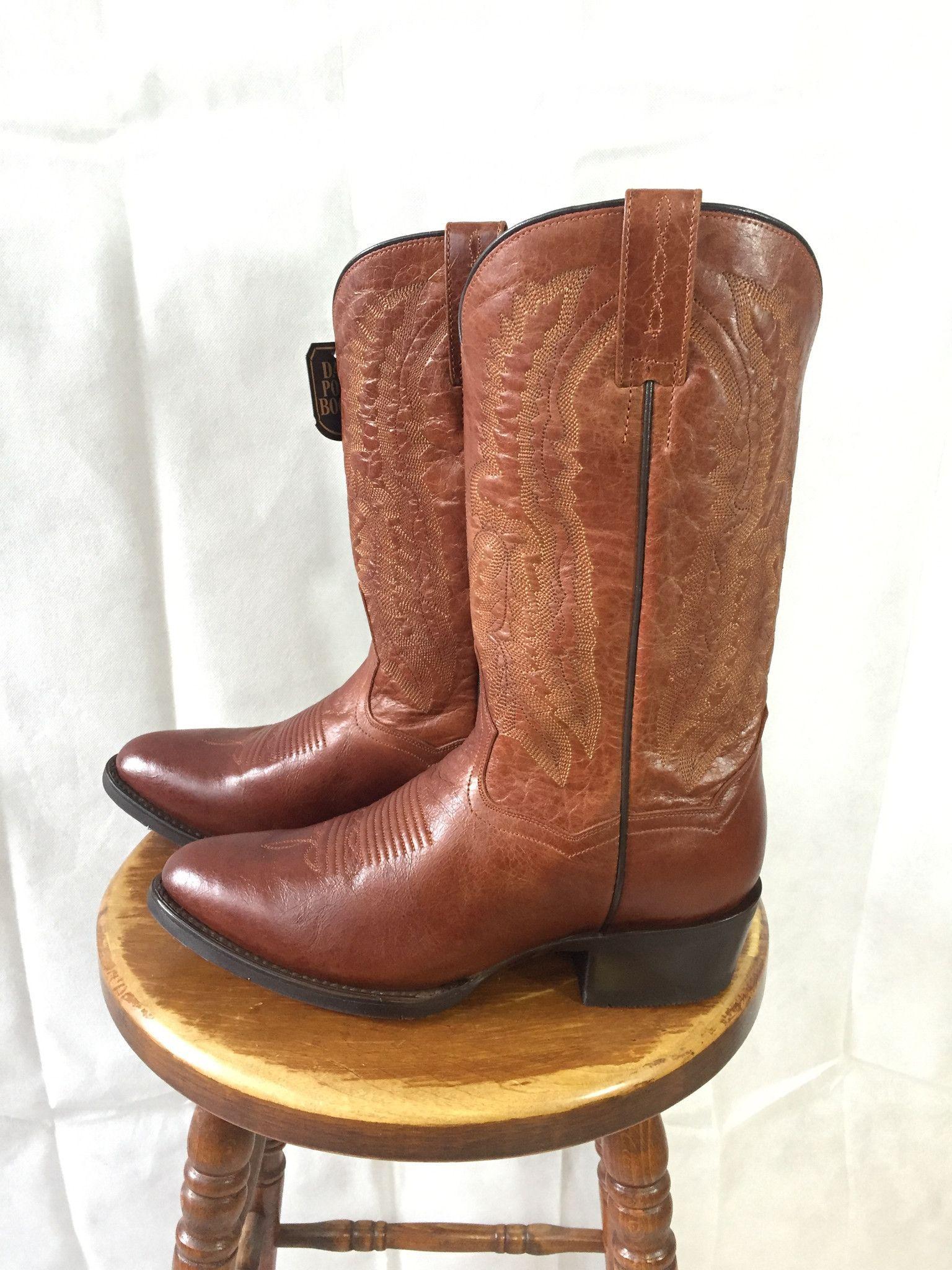 Dan post mens cognac traditional western boots dp2407