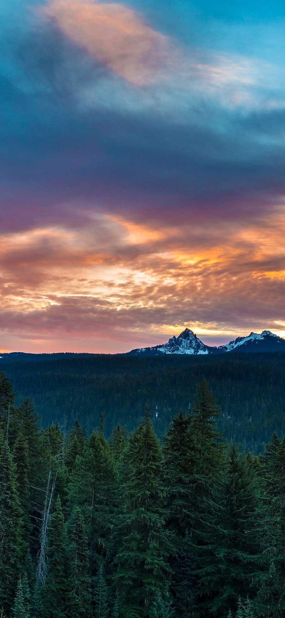 Iphone Wallpaper Diamond Peak Sunset Oregon K Ultra HD