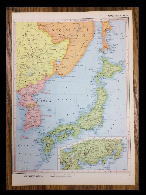 1959 Japan Korea Map 12 50 Use PIN10 At