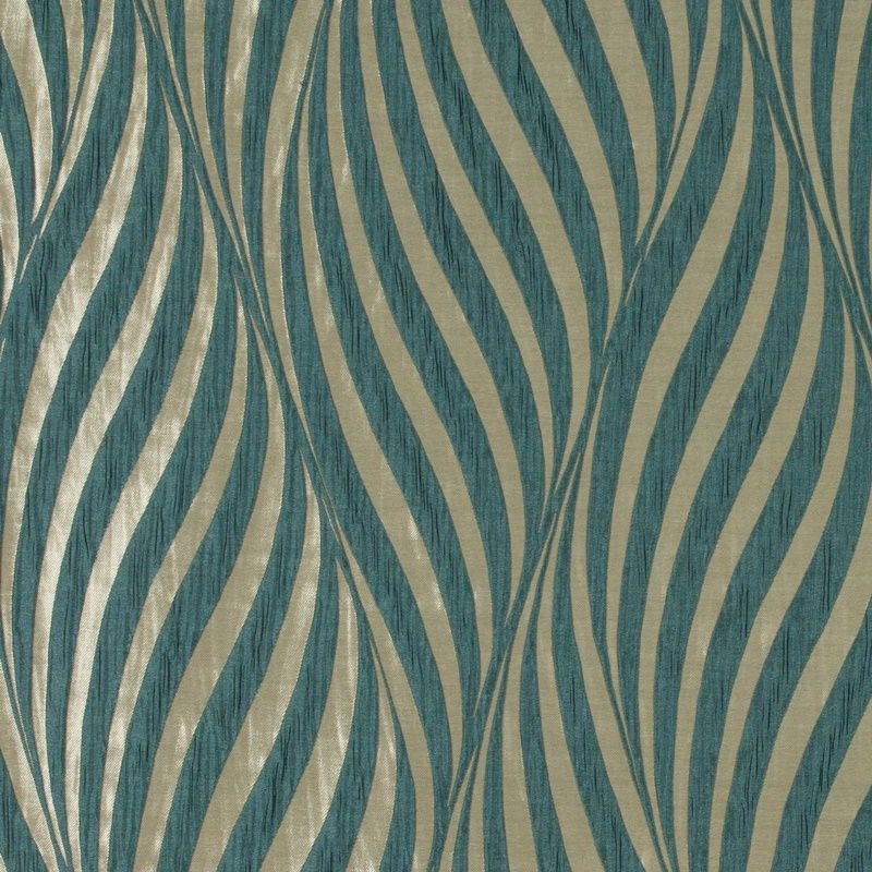 Tulie Teal Blue curtain fabric from Ashley Wilde Botinia Collection ...