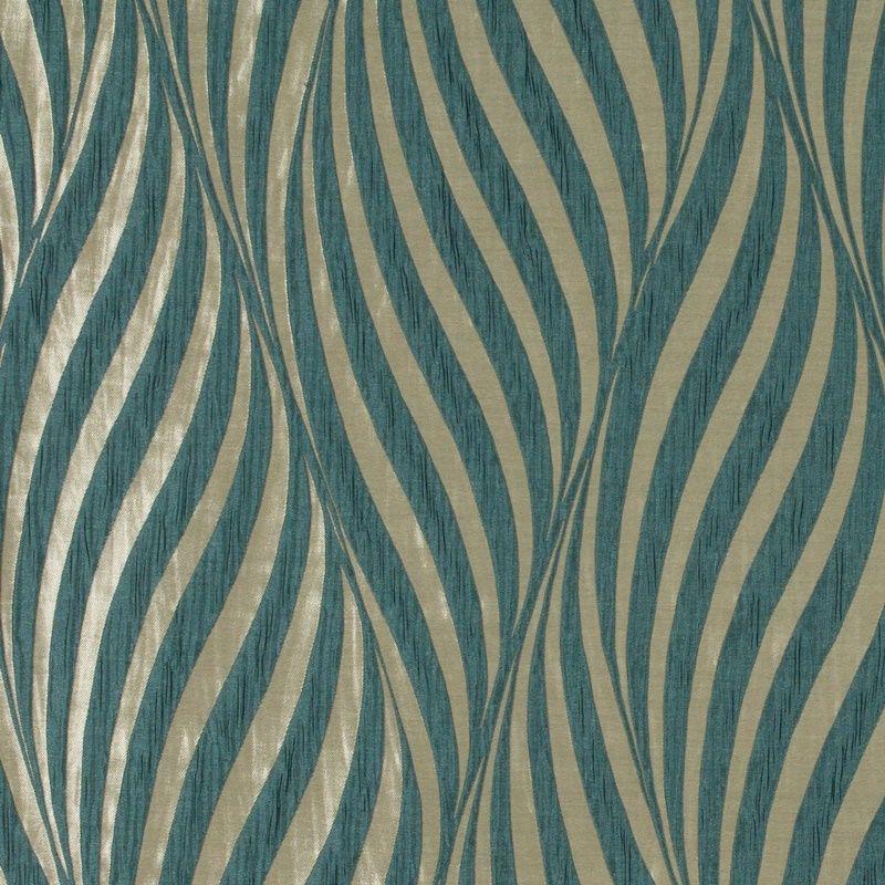 Tulie Teal Blue curtain fabric from Ashley Wilde Botinia ...