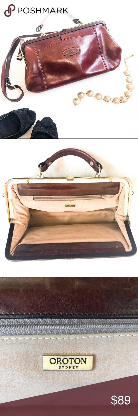 Vintage Oroton Leather Doctor Satchel Fashion Bags Leather Oroton