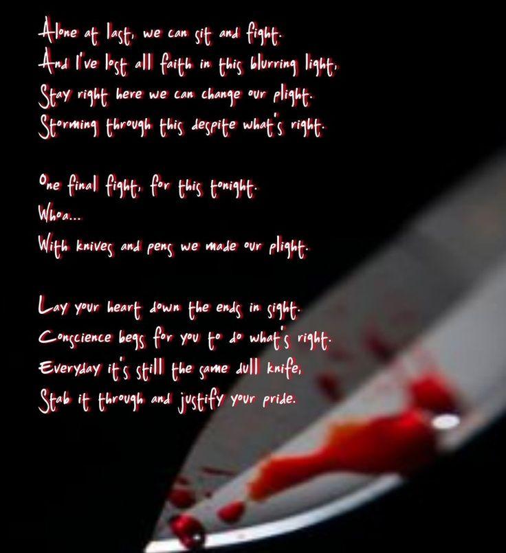Black Veil Brides- Knifes and Pens