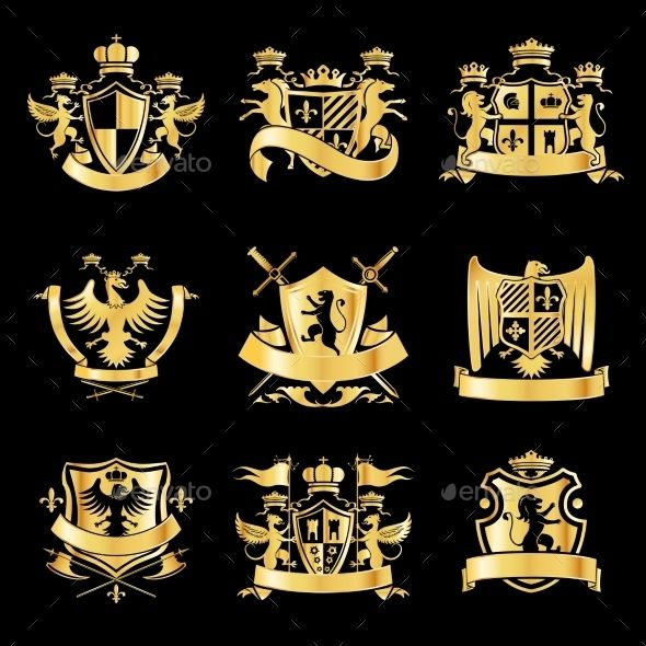 Heraldic Golden Emblems | GraphicRiver