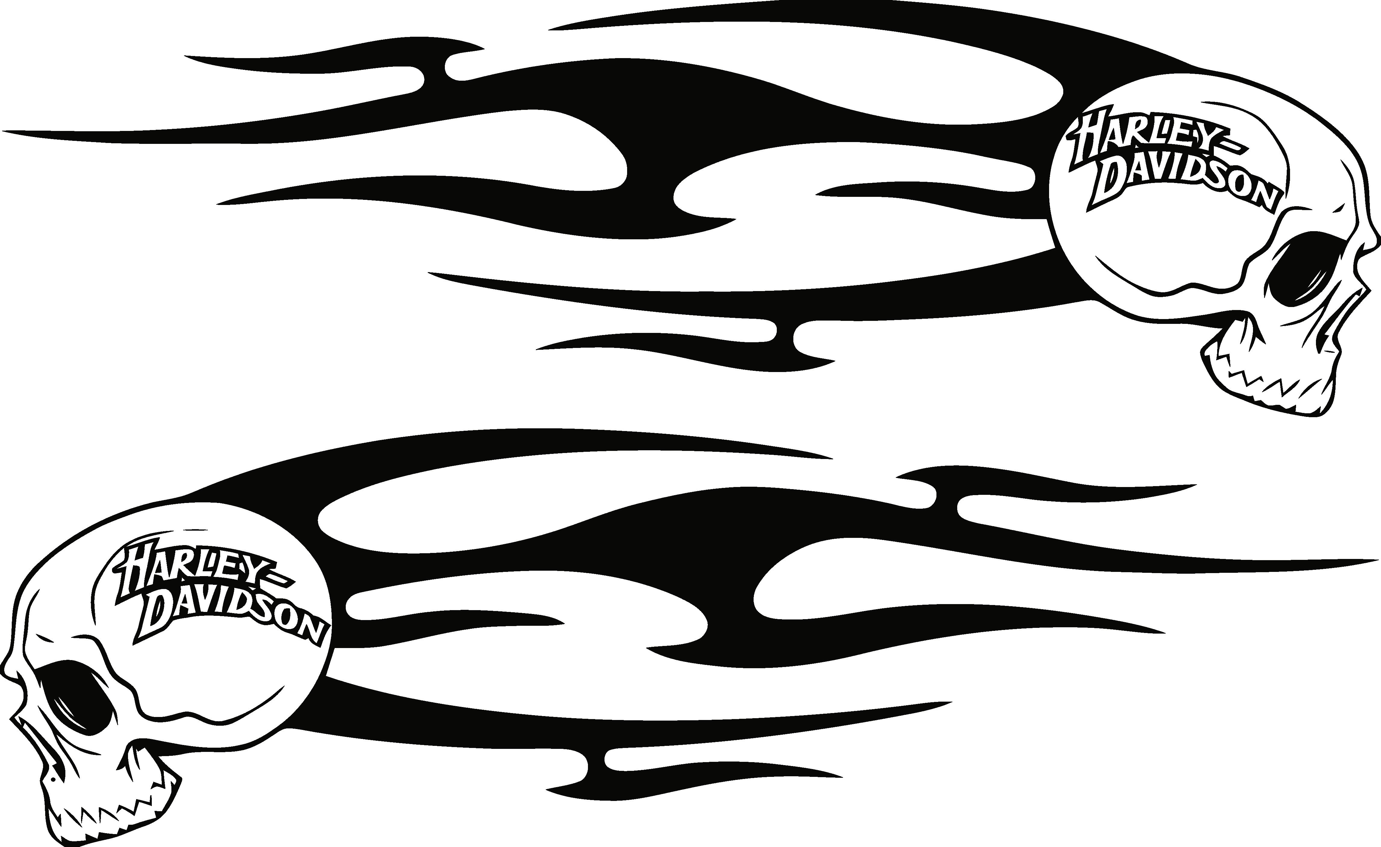 Harley Decals Airbrush Gas Tank Stencils Vinyl