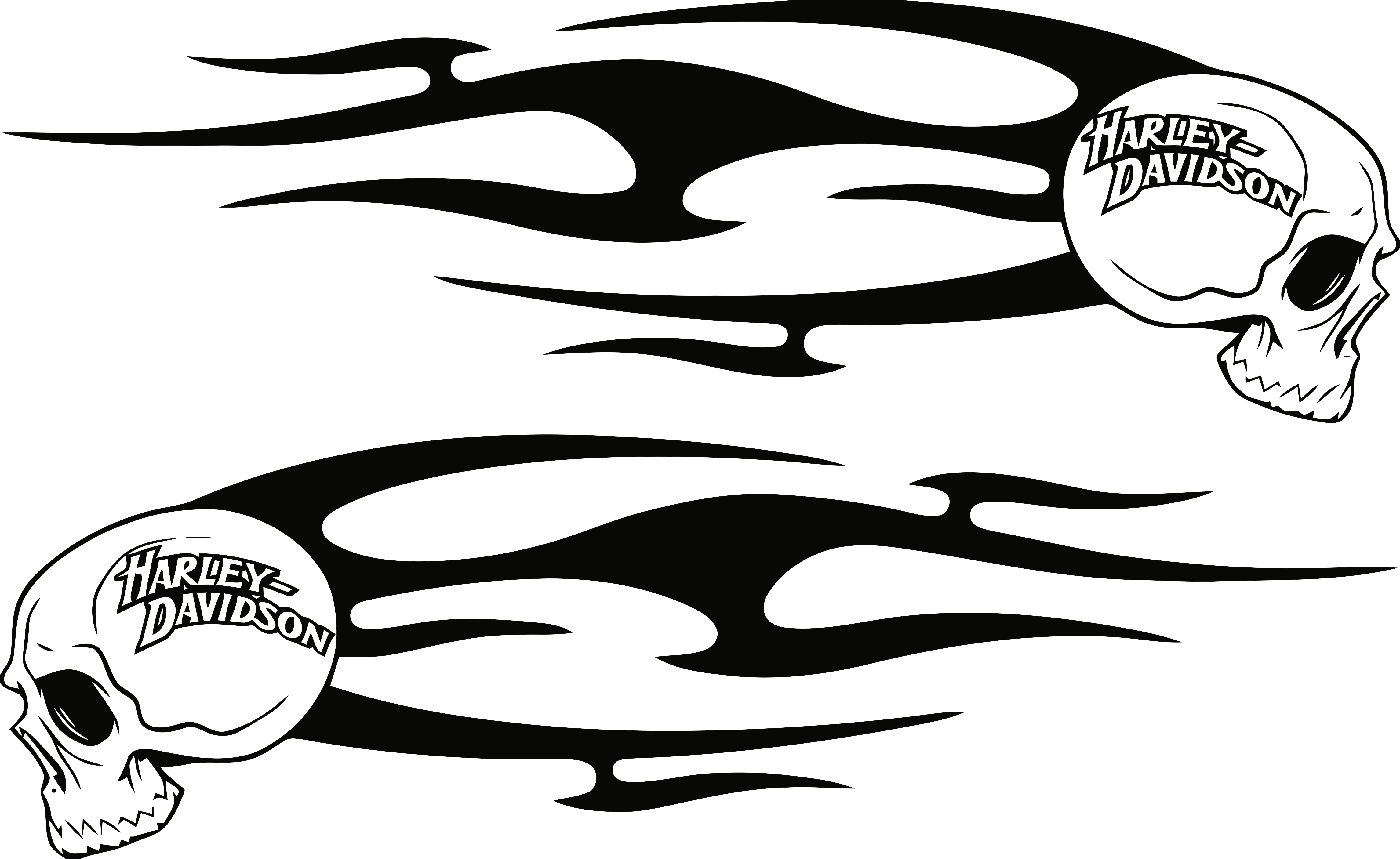 Harley Decals Airbrush Gas Tank Stencils Vinyl With