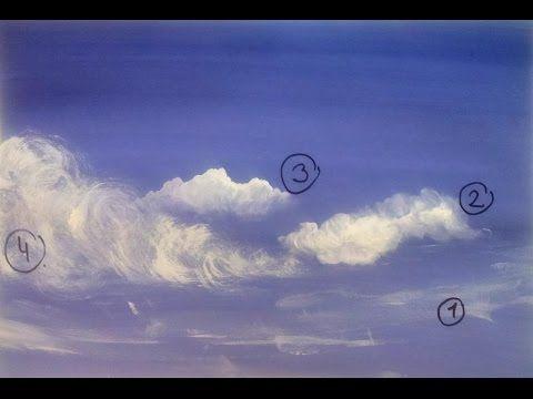 Быстрый способ рисовать облака гуашью