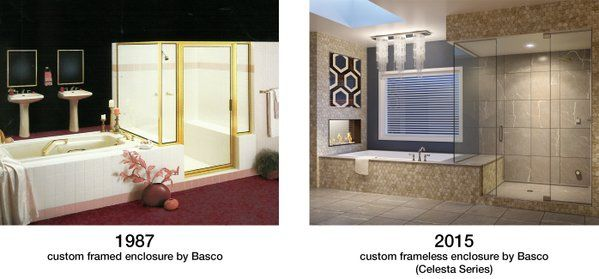1987 Vs 2015 Custom Shower Enclosures By Basco Shower