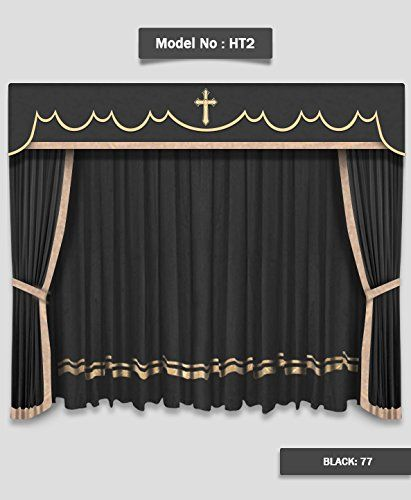 SAARIA HT2 Velvet Drapes Home Theater Movie Studio Curtain Bar Club Stage 12 Ft W X 8 H