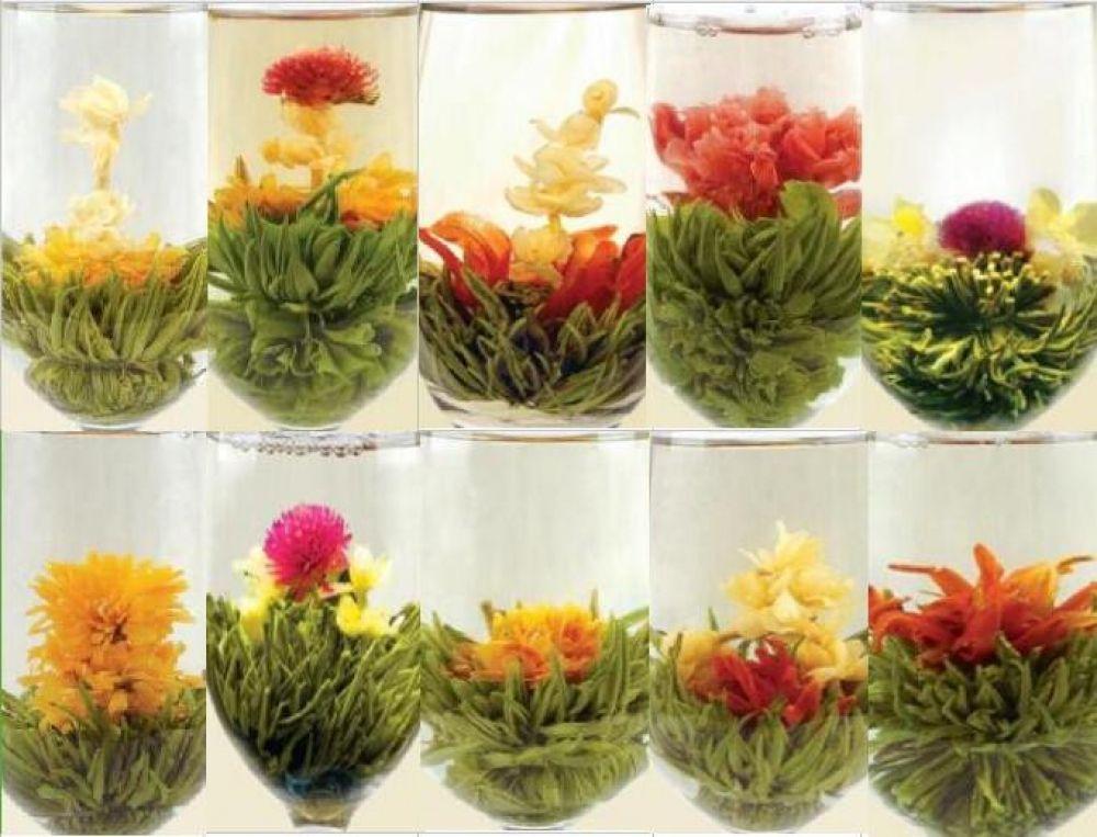Blooming compressed flower tea balls 18pcs woopherb