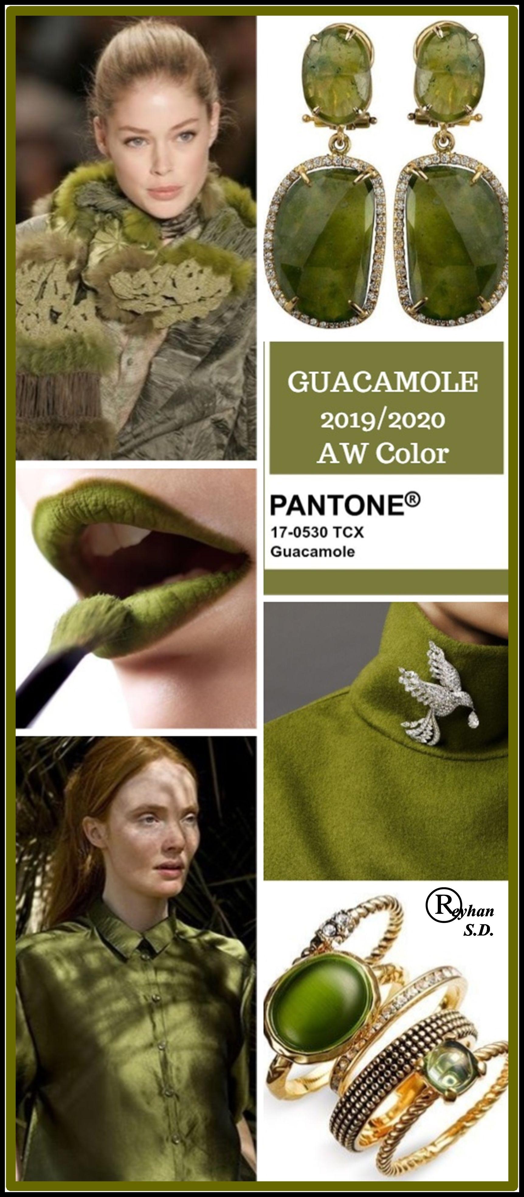 '' Guacamole '' Pantone - Autumn/ Winter 2019/ 2020 Color- by Reyhan S.D