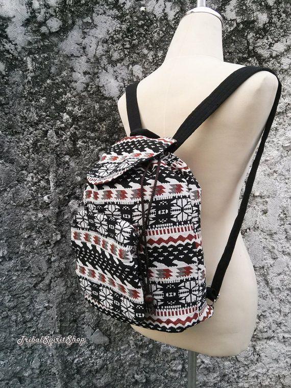 Boho Backpack Ethnic Aztec Print Tribal by TribalSpiritShop · Boho  BackpacksWoven FabricShoulder ... c99bab02d6
