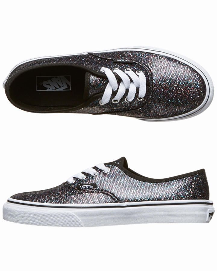 vans glitter black authentic