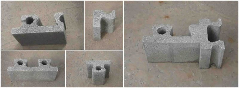 Self-Building Concrete Blocks | Glass, steel, wood | Concrete blocks