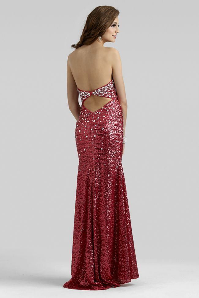 1ead270f6e Clarisse 2014 Radiant Raspberry Strapless Sequin Beaded Prom Dress 2322
