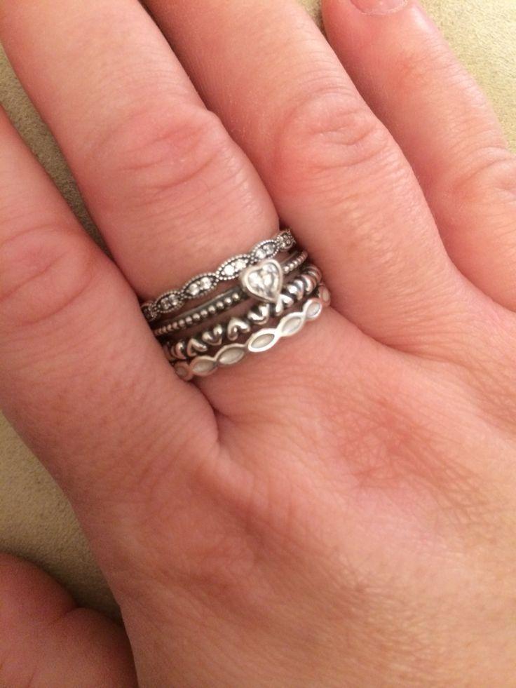 infinity ring pandora. pandora rings stacked - google search infinity ring