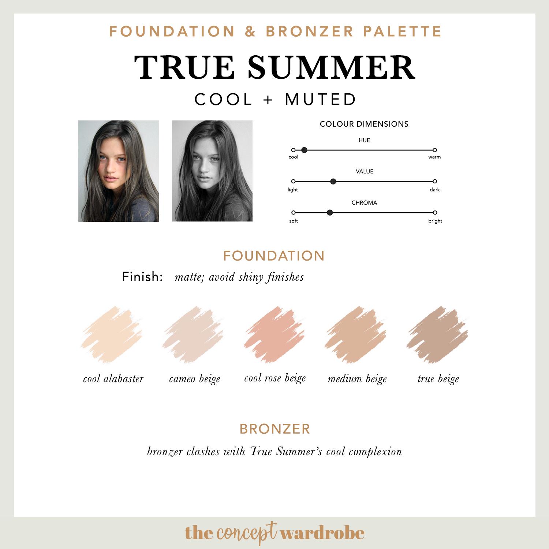 TRUE SUMMER | Foundation & Bronzer Palette