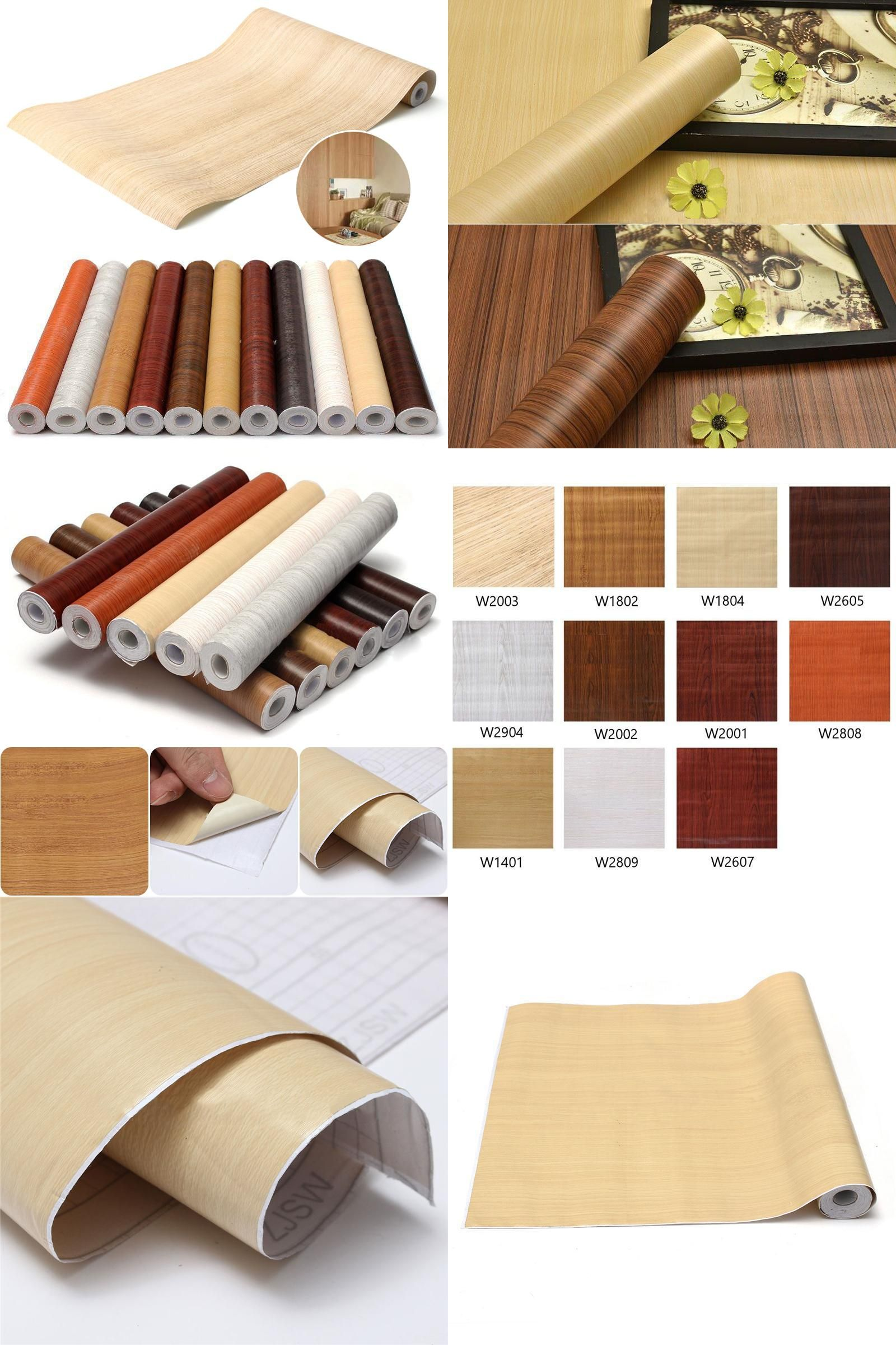 sticky paper for furniture. [Visit To Buy] Wood Grain DIY Decorative Film Self Adhesive Wall Paper Furniture Renovation Sticky For R