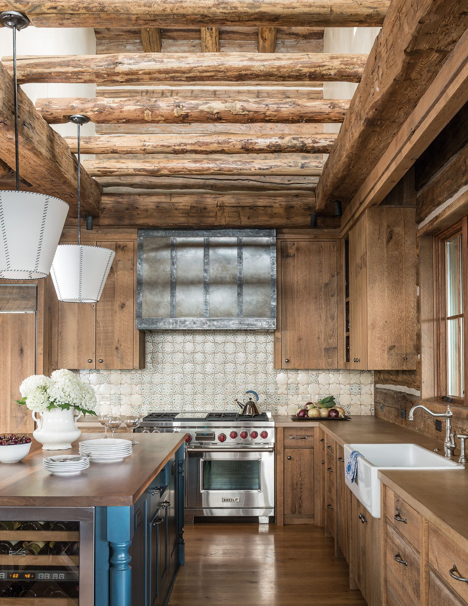 Big Sky Journal - The kitchen isbathed in natural light,even on a ...
