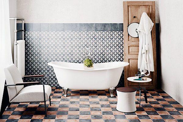 Vintage And Retro Style Bathroom Ideas Blue Bedroom Walls