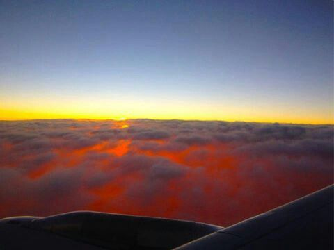 Plane views from my window seat - Air New Zealand Sunrise somewhere between Auckland and Nadi - image Oscar Augusto Risch Neto