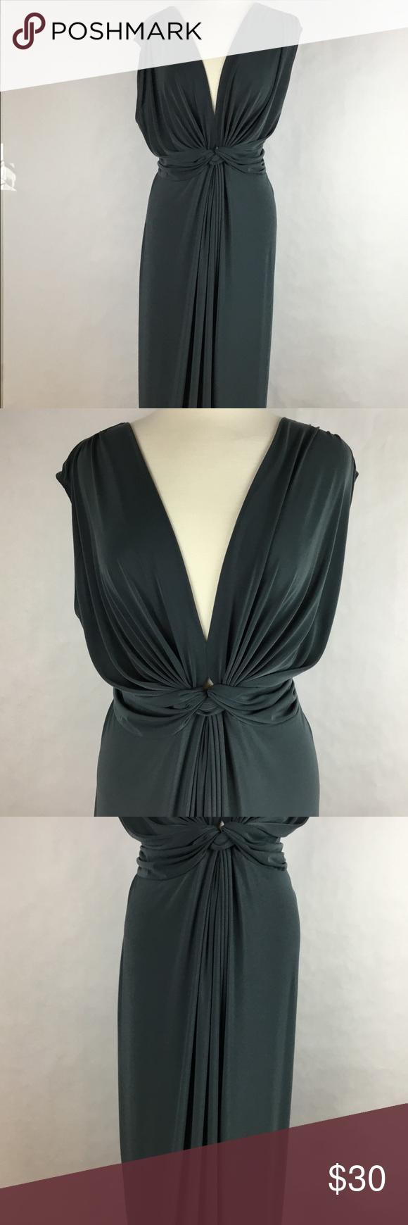 Women maxi dress deep vneck tied back size x maxi dresses and