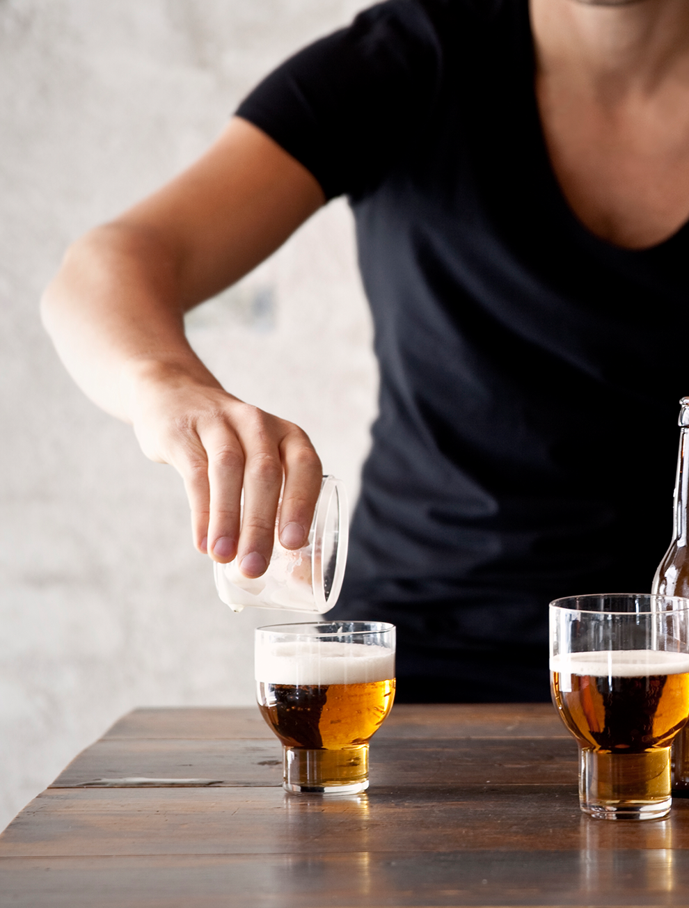 Beer Foamer, Stacable Glass Design by Norm Architects