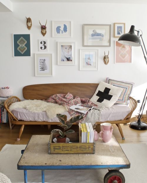 A 1950s UK Home Mixes The Old and The New | Design*Sponge on We