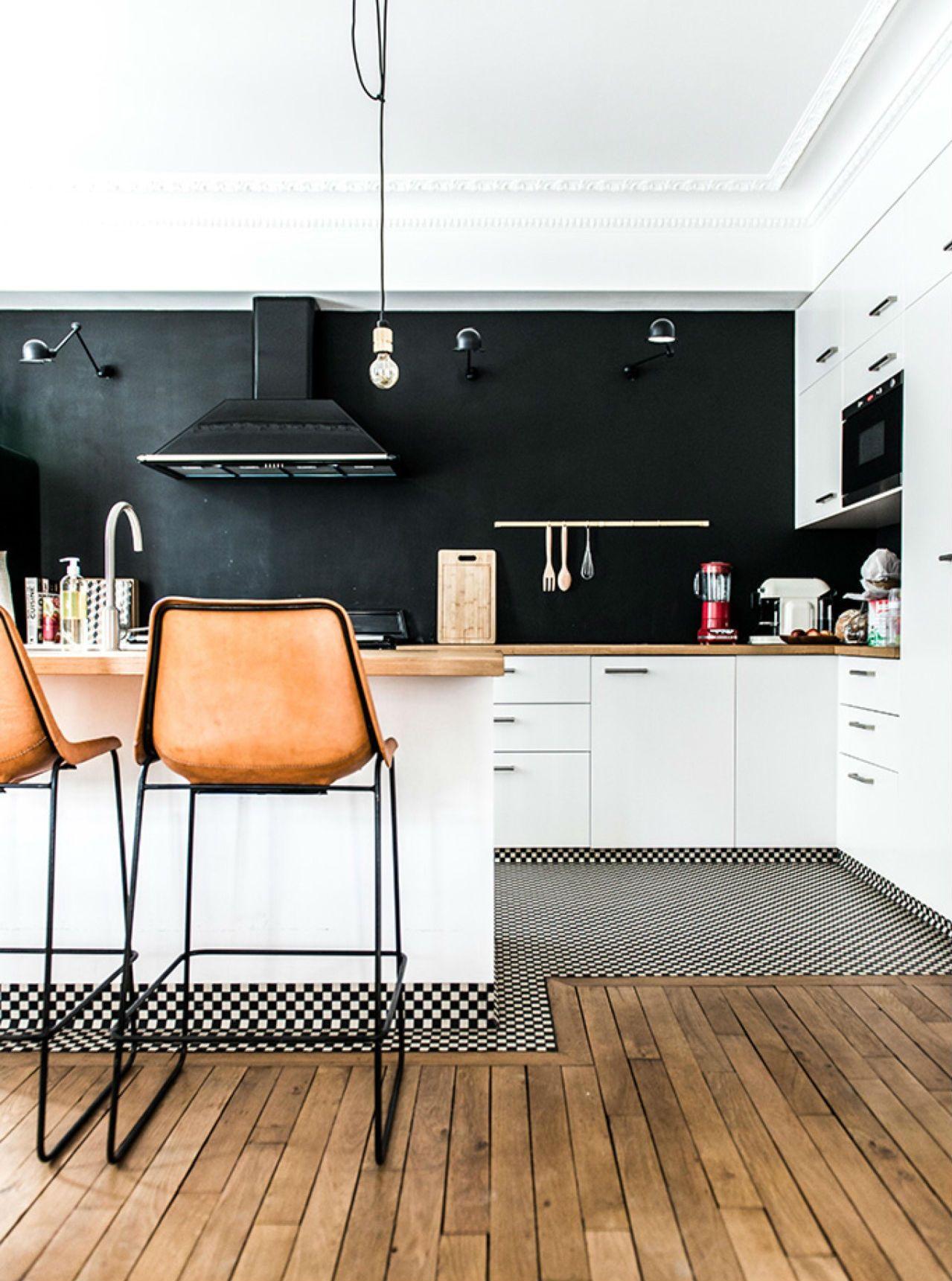 cocina con suelo damero ideas para decorar con suelos de