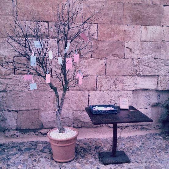 árbol de los deseos. Boda Castillo del Buen Amor