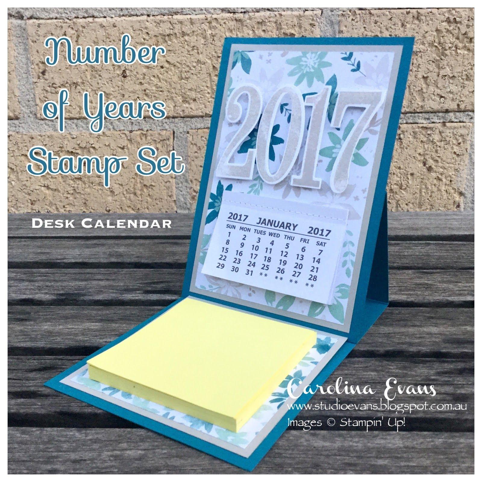 Stampin Up Calendar Ideas : Carolina evans stampin up  number of years