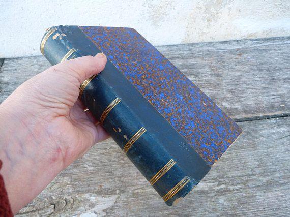 Vintage Antique 1890 Mme De Stael Et Son Temps Real Leather Decorative French Book Vintage Nicola De Stael