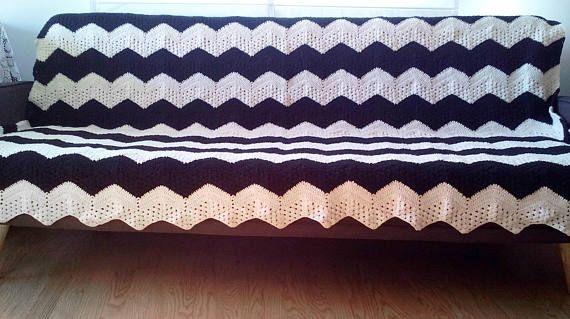 Sofa Scarf Sofa Plaid Blanket Sofa Slipcover Sofa Duvet / #crochet  #knitting #ethnic