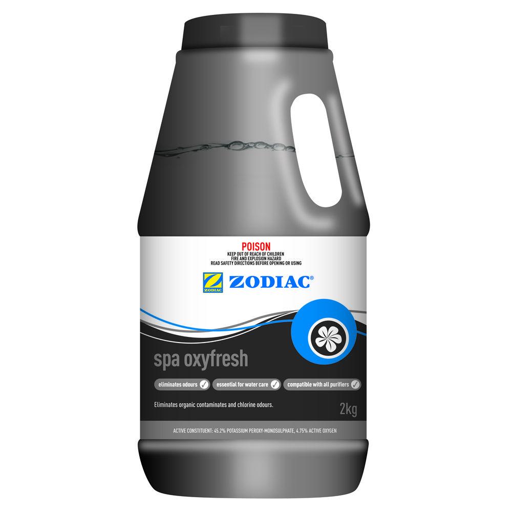 Chlorine free spa shock zodiac spa oxyfresh 2kg treatment