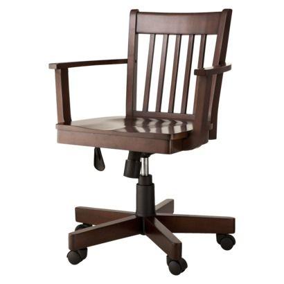 Threshold Avington Banker S Chair In Dark Tobacco From