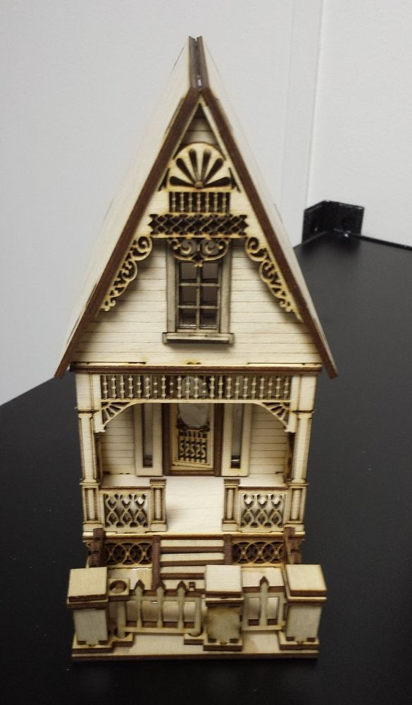 Little ann victorian cottage house 1 48 quarter scale for Victorian cottages kit homes