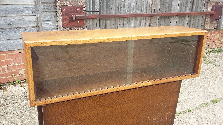 Vintage Stripped Teak Or Mahogany Glazed Shelf Unit Bathroom