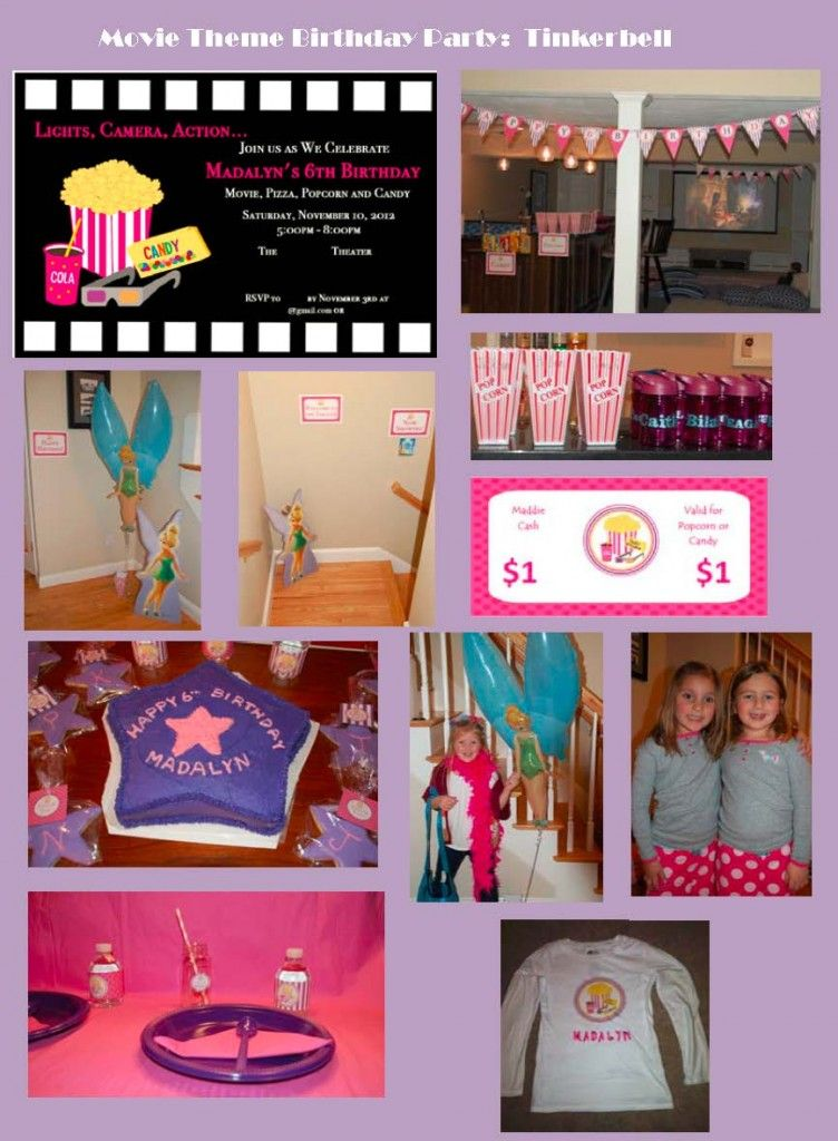 MovieThemed Childrens Birthday Party Tinkerbell Birthdays and Movie