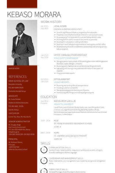 legal intern resume samples  u0026 templates
