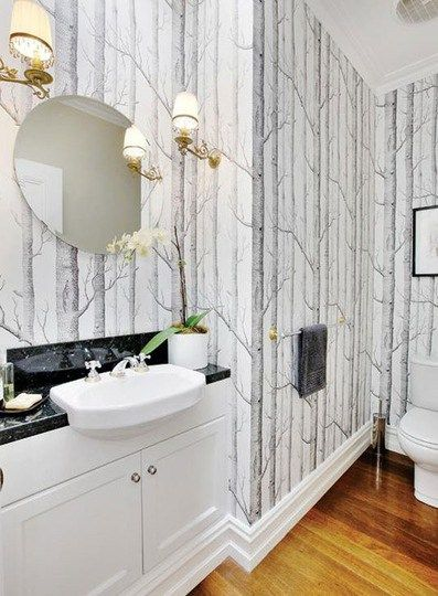 Best Birch Tree Wallpaper In The Bathroom … Glamorous Bathroom 640 x 480