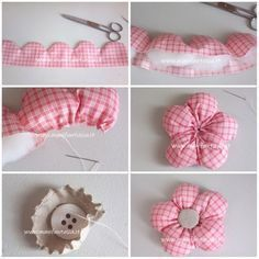 Tutorials filled with fabric flowers - Jewelery For Lady