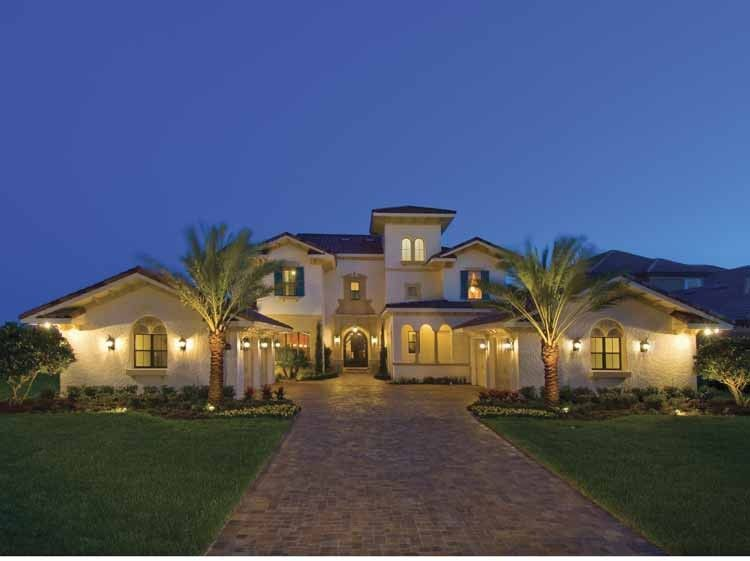 Mediterranean House Plan With 5552 Square Feet And 5 Bedrooms S From Drea Mediterranean Style House Plans Mediterranean House Plans Modern Mediterranean Homes
