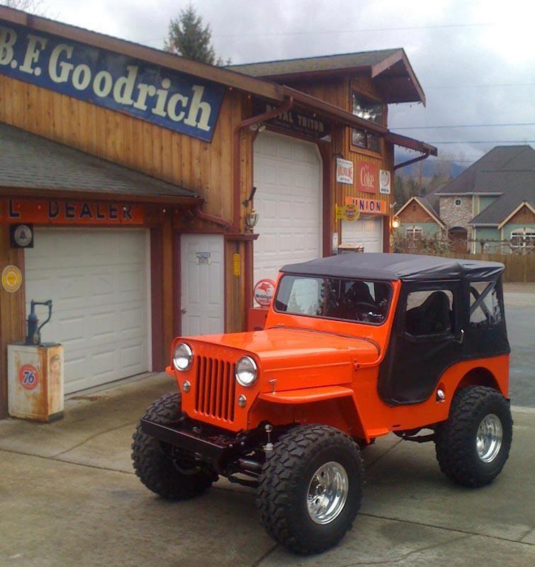 Orange Jeep Willys
