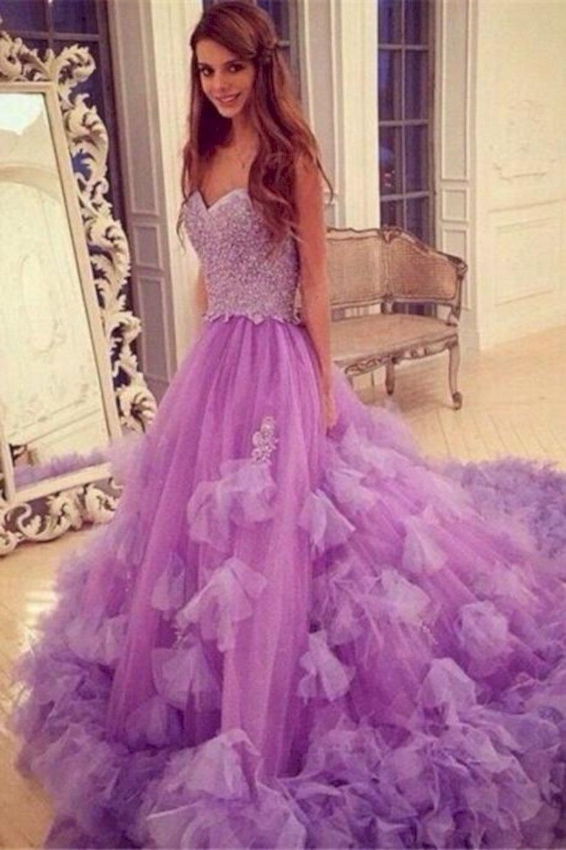 41 Simple and Elegant Purple Evening Dress