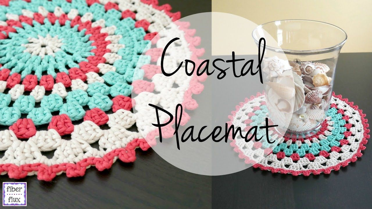 How To Crochet the Coastal Placemat, Episode 327 | CROCHET TRAPILLO ...